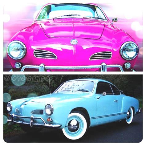 dream cars  pink  turquoise volkswagen karmann ghia etcetera etcetera pinterest