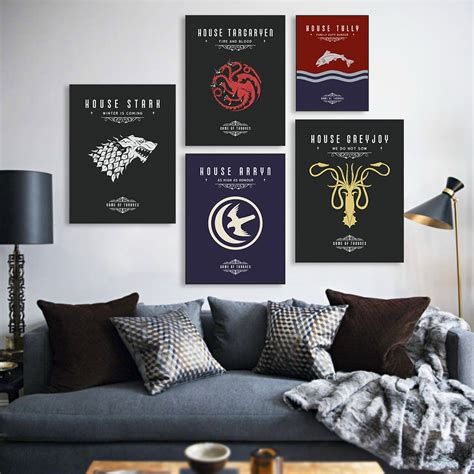 wall posters for room of thrones a3 tv poster vintage wall canvas