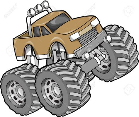 monster trucks clipart truck clipart monster truck pencil and in color truck