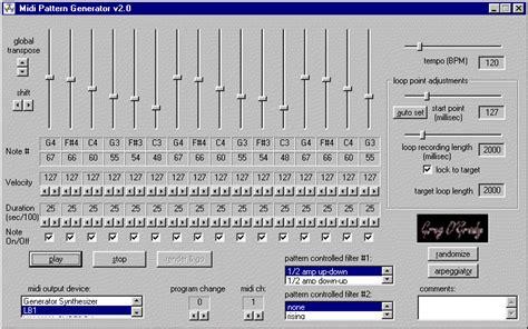 qucs pattern generator midi pattern generator