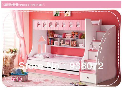 shipping kids furniture bedroom set children bunk beds  stairs  boy girl furniture