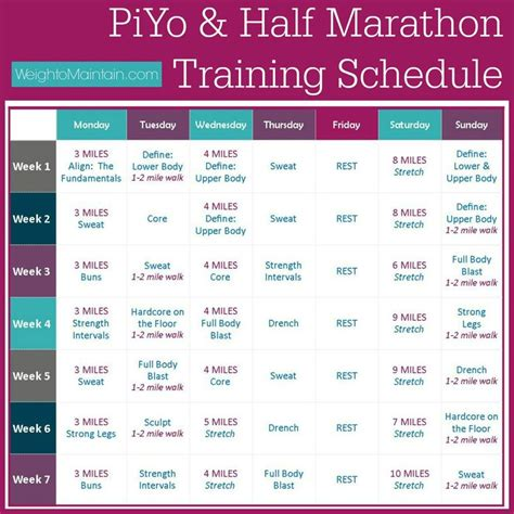 half marathon training plans on pinterest half marathon training piyo half marathon training running pinterest