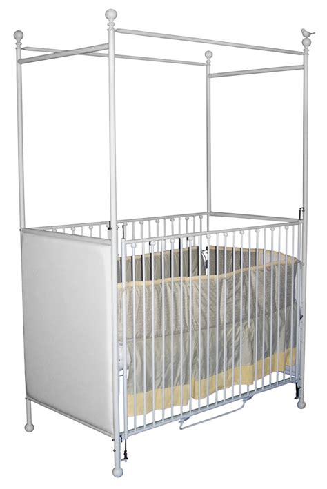 Cribs With Canopy by Panel Canopy Crib With Bird
