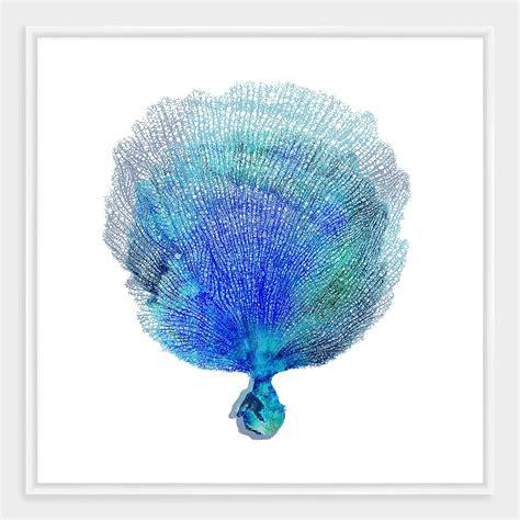 Framed nautical fan coral wall art world market