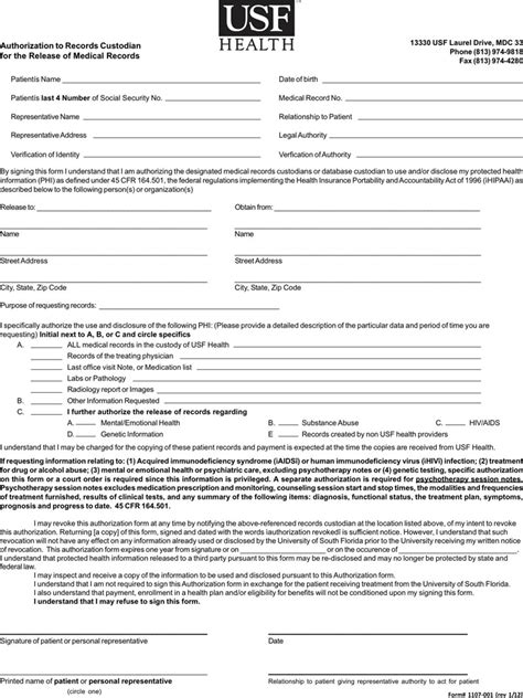 Florida Record Florida Records Release Form Free Premium Templates Forms