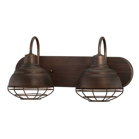 industrial bathroom vanity lighting millennium lighting 5422 neo industrial 2 light bathroom