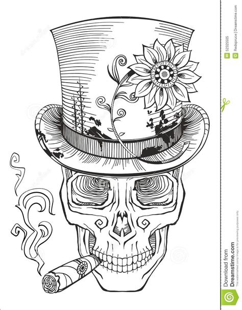 day of the dead baron samedi drawing stock vector image