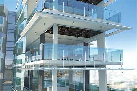 Luxury Interior Design Home Aquila Apartments Frameless Glass Balcony Balustrade By