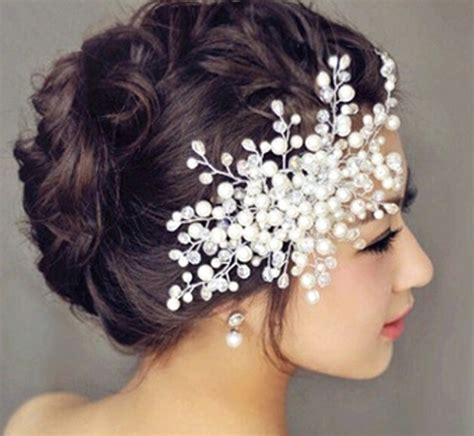 Hair Clip Fashion Rambut Model 2015 fashion hair accessories wedding bridal faux pearl headwear high quality tiara