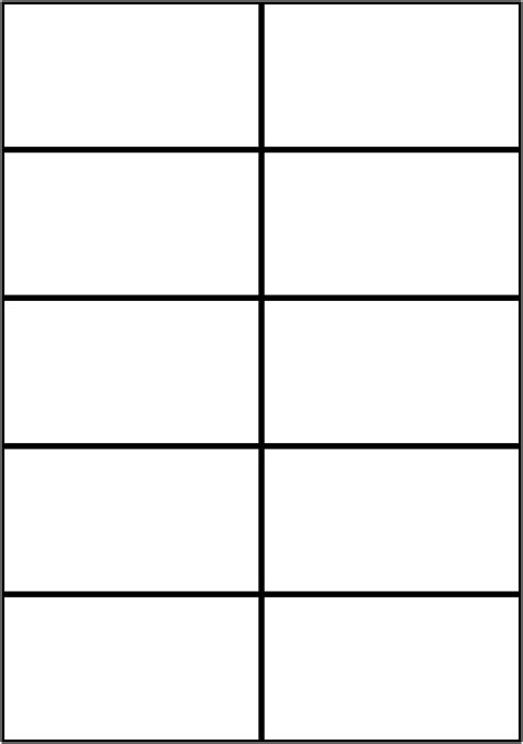 Blank Printable Cards Template by 9 Best Images Of Blank Flash Cards For Words Free