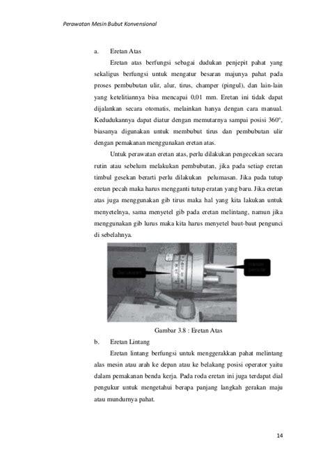 Mesin Bubut perawatan mesin bubut