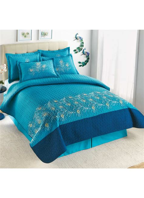 peacock coverlet peacock coverlet bedskirt drleonards com