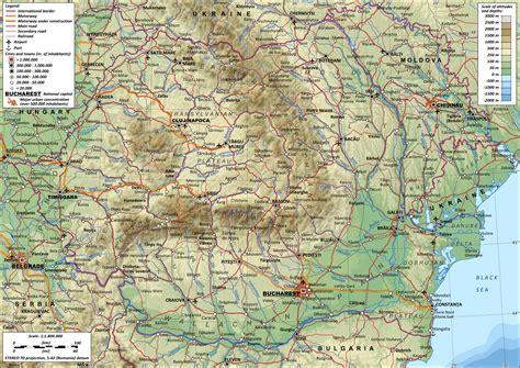 map of romania romania mountains map