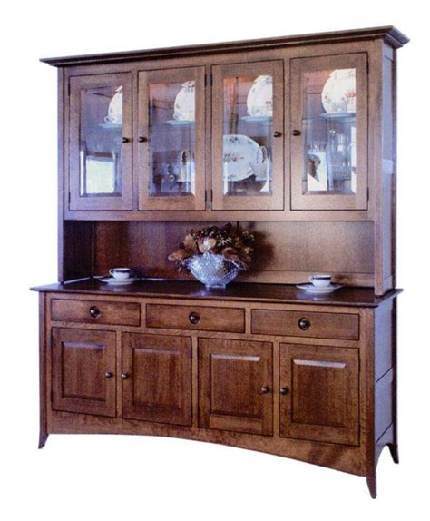 amish dining room 4 door fresno hutch shaker hutch four door amish furniture 1521