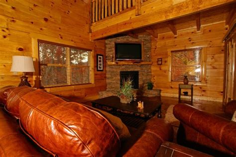 Smoky Cove Chalet And Cabin Rentals by Big Retreat Living Room Fireplace From Smoky Cove