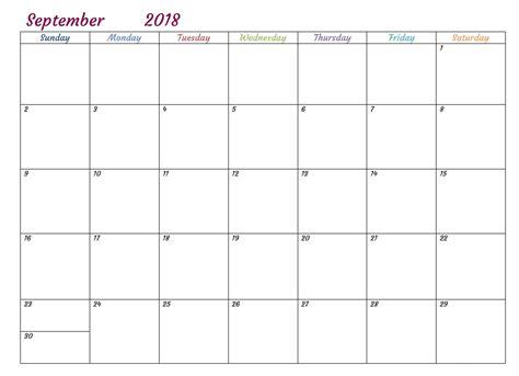 Free Printable 2018 Monthly Usa Calendar Calendar 2018 Free Calendar Template 2018
