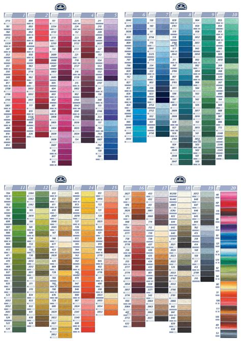 dmc color chart buy dmc stranded cotton dmc threads products