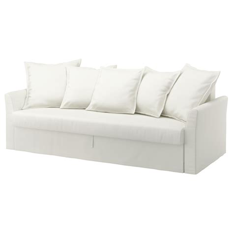 Holmsund Three Seat Sofa Bed Ransta White Ikea White Sofa