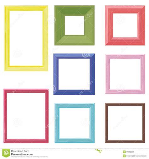 colored picture frames wooden frames color set stock vector illustration of