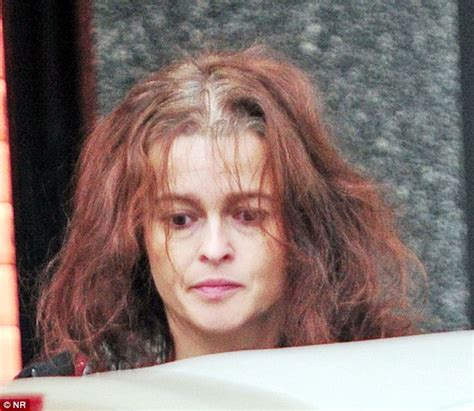 actresses that have thinning hair helena bonham carter suffers bird s nest hair day on trip