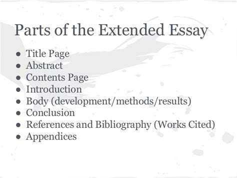 Ib Biology Extended Essay by Ib Extended Essay Requirements