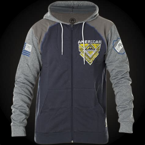 Hoodie Sweater Fighter Fei Grey Backfront Logo american fighter by affliction hoody douglas artisan with logo prints