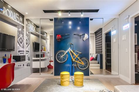 bicycle themed home decor creative boys bedroom with bicycle themes house design and decor