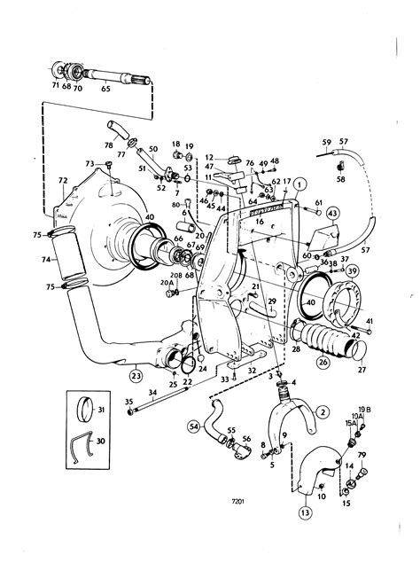 volvo penta 280 outdrive parts diagram 6 best images of volvo penta trim parts diagrams volvo