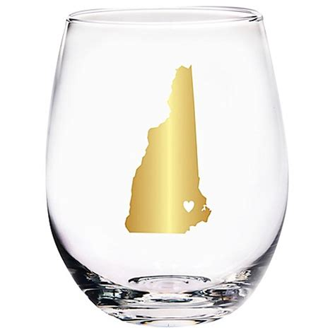 bed bath and beyond nh home essentials beyond new hshire state stemless wine glass bed bath beyond
