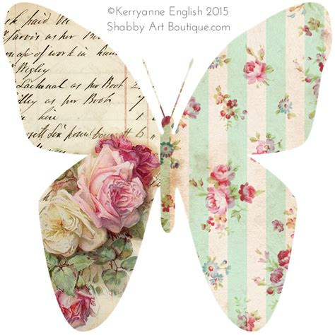 Wall Transfer Stickers shabbilicious butterflies shabby art boutique