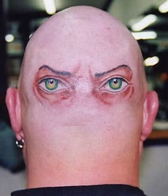 weird tattoo bald tattoos damn cool pictures