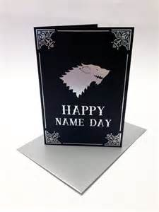 of thrones inspired birthday card house stark song of and grr martin happy