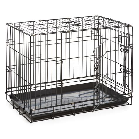 puppy cage crate door black medium at wilko