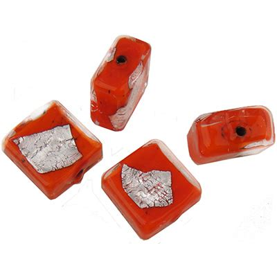 P Square Tosca orange opaque silver splashes tosca square 12mm