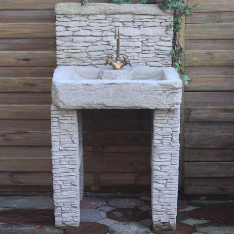 garten waschbecken mediterrano g 228 rtner p 246 tschke - Garten Waschbecken Stein