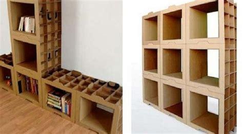 membuat lemari dari bahan kardus kardus bekas berbentuk rak buku