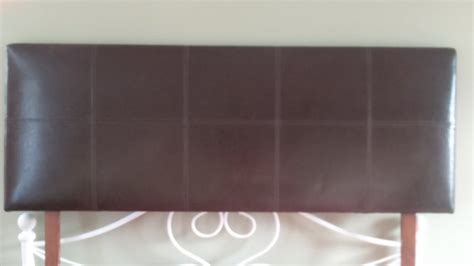 dark brown faux leather king size headboard for sale for
