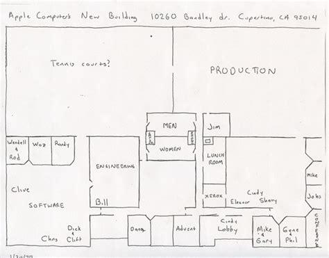 apple layout design blast from the past floor plan of apple s original