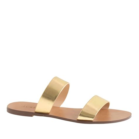 j crew gold sandals j crew malta mirror metallic sandals in metallic lyst