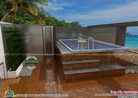 house  terrace swimming pool kerala home design  floor plans