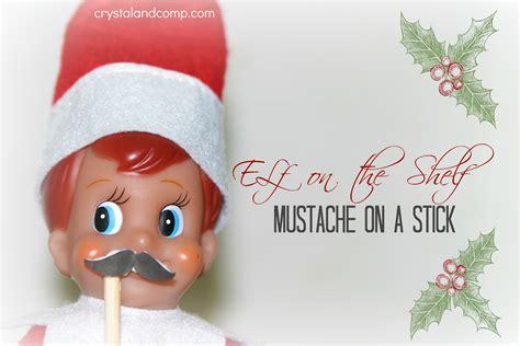 Elf On The Shelf Printable Mustache | elf on the shelf mustache on a stick free printable