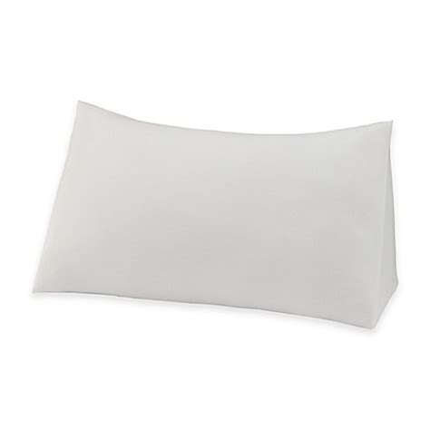 reading wedge bed pillow therapedic 174 reading wedge knit pillow protector bed bath