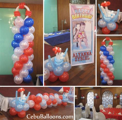 nautical themed balloons white balloon decoration in orosia food park cebu