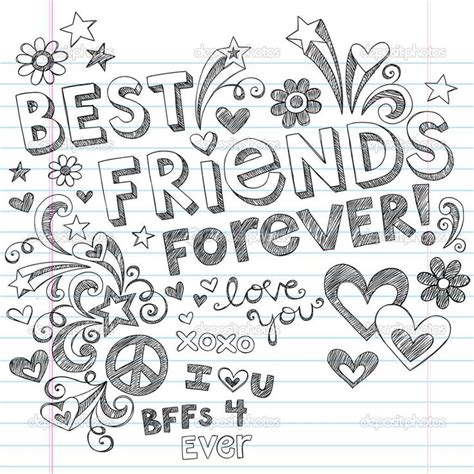 Best Friends Coloring Pages Printable best friends forever coloring pages coloring pages