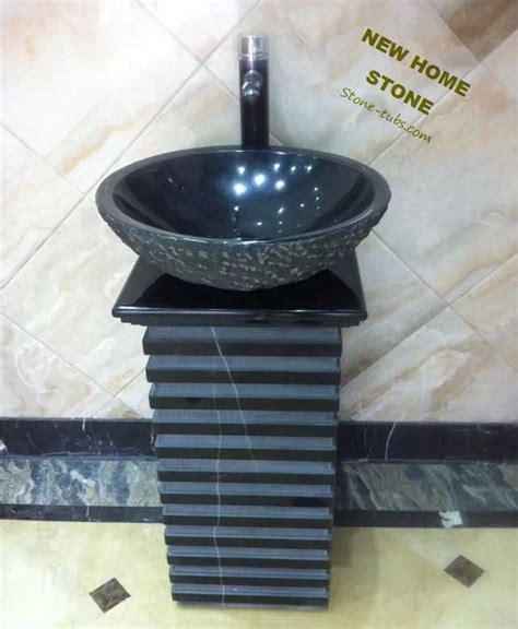 marble pedestal sink vanity black granite pedestal sink square twist teakwood marble