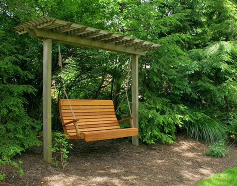 outdoor wood swings garden swings the enchanting element in your backyard