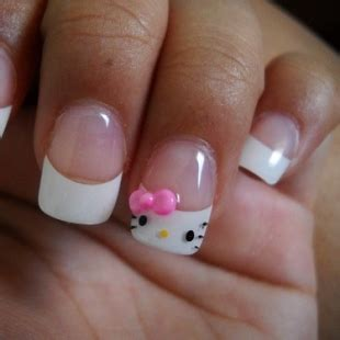 trendy fashion  kitty nail art