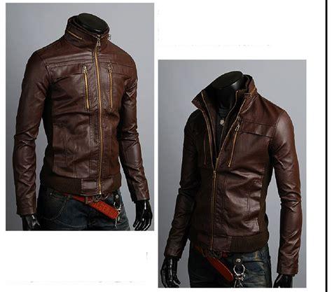Style Korea Leather Jaket 52 s leather jackets korean style casual slim fit biker leather jacket mens outerwear