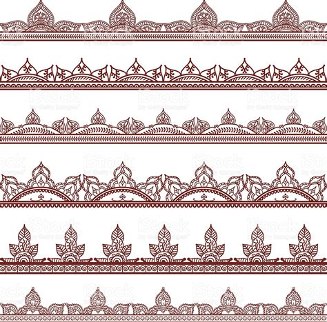 indian pattern frame mehndi border designs stock vector art 165741495 istock
