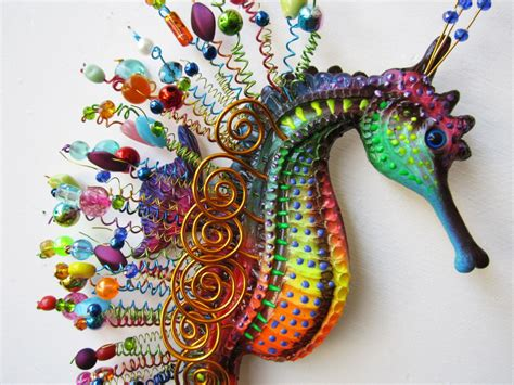 sculpture wall decor seahorse wall sculpture